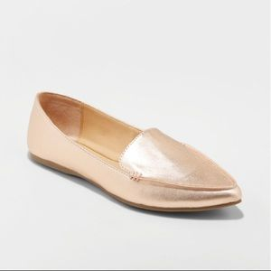 NWT A New Day Rose Gold pointy toe Micah flats